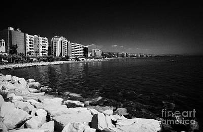 Limassol Seafront And Breakwater In Twin Cities Park On Reclaimed Land Lemesos Republic Of Cyprus Art Print by Joe Fox
