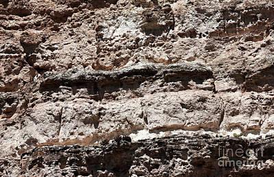 Photograph - Limestone Details by John Rizzuto