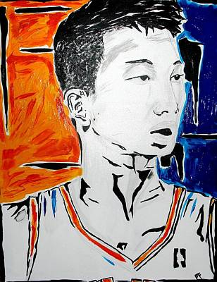 Jeremy Lin Painting - Lin  by Patrick Ficklin