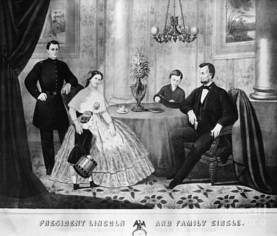 Lincoln & Family Art Print by Granger