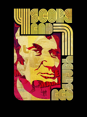 Peter Max Digital Art - Lincoln 4 Score On Black by Jeff Steed