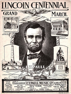 Lincoln Centennial, C1909 Art Print by Granger