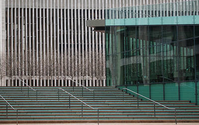 Photograph - Lincoln Center Lines by Cornelis Verwaal