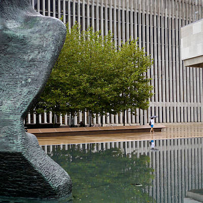 Photograph - Lincoln Center Reflections by Cornelis Verwaal