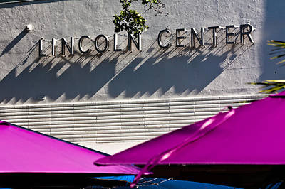 Photograph - Lincoln Center Sign by Ed Gleichman