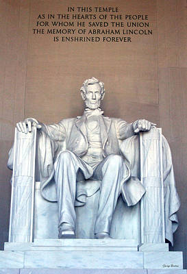Art Print featuring the photograph Lincoln Memorial 001 by George Bostian