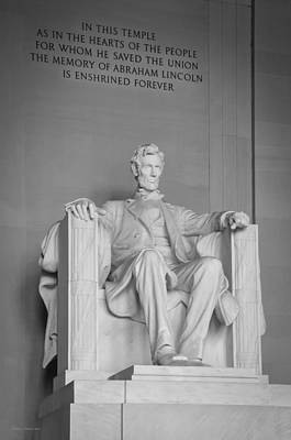 Politicians Royalty-Free and Rights-Managed Images - Lincoln Memorial 1 by Frank Mari