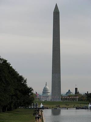 Photograph - Lincoln Memorial And Capital by Keith Stokes