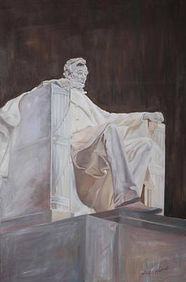 Lincoln Memorial Painting - Lincoln Memorial by Leah Holland