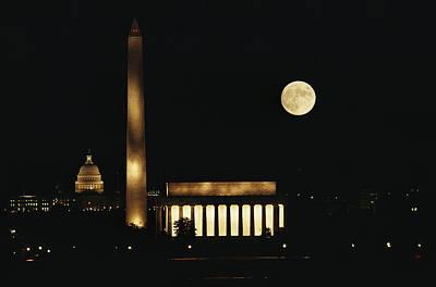 Lincoln Memorial, Washington Monument Art Print