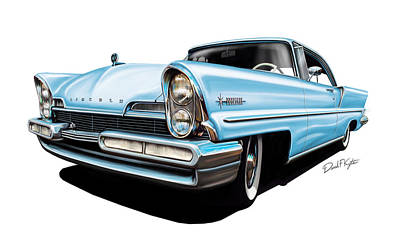 Lincoln Premier In Baby Blue Art Print by David Kyte