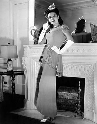 Linda Darnell In Sequined Evening Gown Art Print by Everett