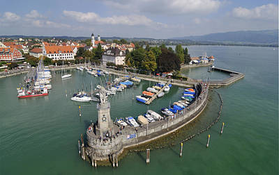 Photograph - Lindau Harbor Lake Constance Bavaria Germany by Matthias Hauser
