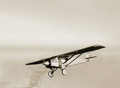 Monoplane Photograph - Lindbergh's Spirit Of St Louis Airplane by Detlev Van Ravenswaay