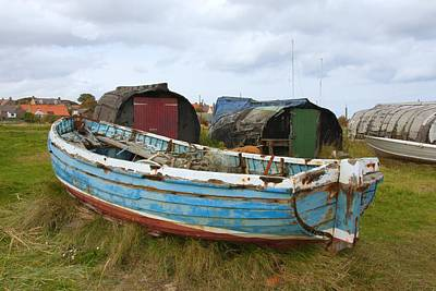 Photograph - Lindisfarne Boats by Ed Lukas