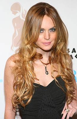 Long Necklace Photograph - Lindsay Lohan In Attendance For 6126 by Everett