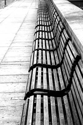 Repetition Photograph - Line Of Empty Benches by Christoph Hetzmannseder