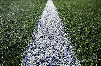 Line On Sports Field Art Print by Paul Edmondson