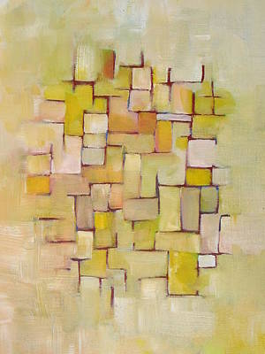 Line Series Yellow Basket Weave Art Print