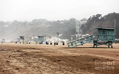 Photograph - Lined Up At Santa Monica by John Rizzuto