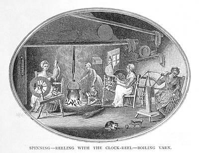 Linen Manufacture, 1783 Art Print by Granger