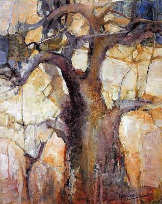 Baobab Painting - Lines Of Time by Wendy Rosselli