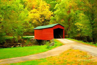 Studio Grafika Zodiac - Links Farm Covered Bridge by Darren Fisher