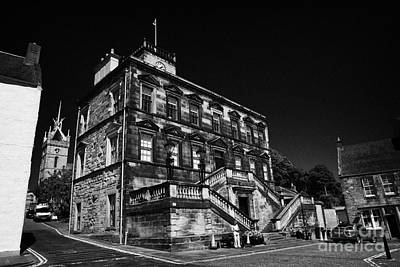 Burgh Photograph - Linlithgow Burgh Halls On The Cross West Lothian Scotland by Joe Fox