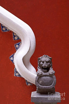 Photograph - Lion And Bannister Puebla Mexico by John  Mitchell