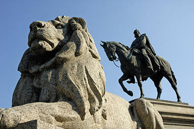 Photograph - Lion And Horse Monument - German Emperor Wilhelm I by Matthias Hauser