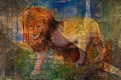 Lion Print by Arline Wagner