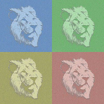 Photograph - Lion Art In Color by Kavitha