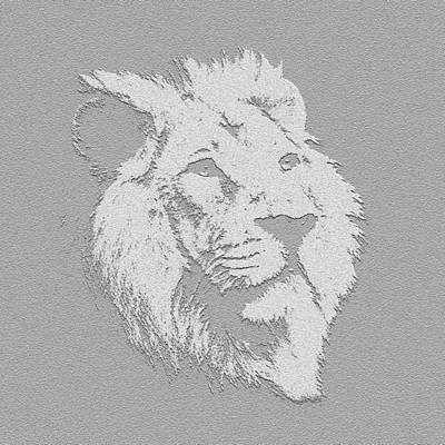 Photograph - Lion Art by Kavitha