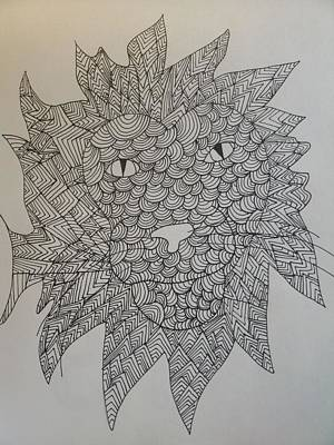 Drawing - Lion Head by Samantha L