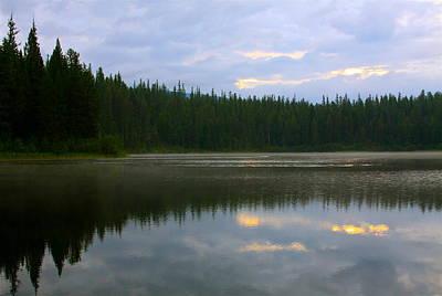 Photograph - Lion Lake Montana Sunrise by Karon Melillo DeVega