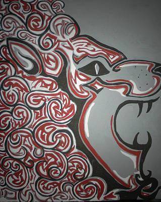 Lion Uproar Art Print by Brandy Nicole Neal