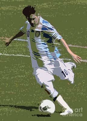 Lionel Messi Kicking II Art Print by Lee Dos Santos