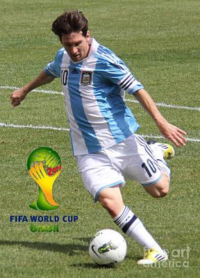 Lionel Messi Kicking V Fifa World Cup 2014 Art Print