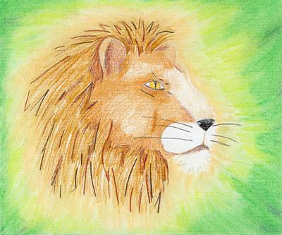 Lions Head Art Print by Mark Schutter