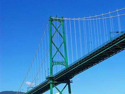 Photograph - Lionsgate Bridge by Judy Wanamaker