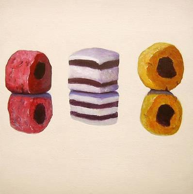 Allsorts Painting - Liquorice Allsorts by Nikki Rosetti