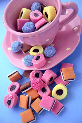 Allsorts Photograph - Liquorice Sweets by Erika Craddock