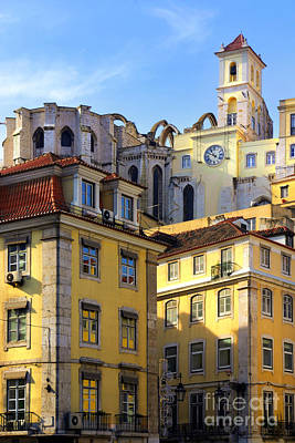 Rooftop Photograph - Lisbon Buildings by Carlos Caetano