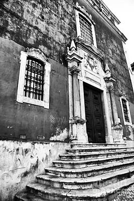 Photograph - Lisbon Church Steps by John Rizzuto