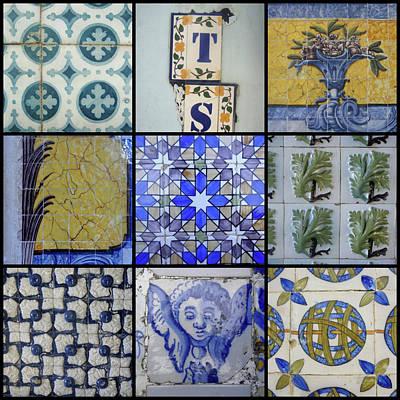 Lisbon Tiling Art Print by Roberto Alamino