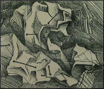 Drawing - Litho Exp2 1986 by Glenn Bautista