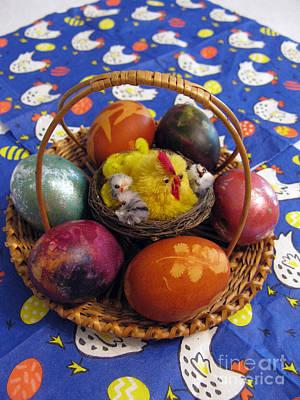 Natural White For Decorating Photograph - Lithuanian Easter Basket by Ausra Huntington nee Paulauskaite