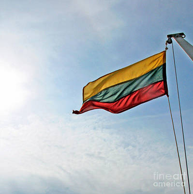 Photograph - Lithuanian Tricolor by Ausra Huntington nee Paulauskaite