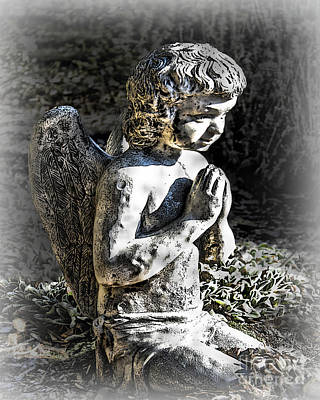 Photograph - Little Angel Statue by Danuta Bennett