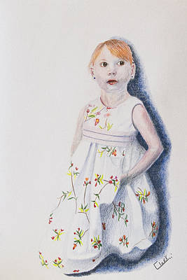 Drawing - Little Angel by Wade Clark
